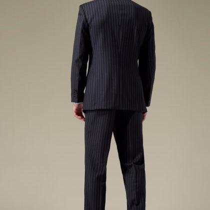 Classical Stripe Wool Men Suit for ..