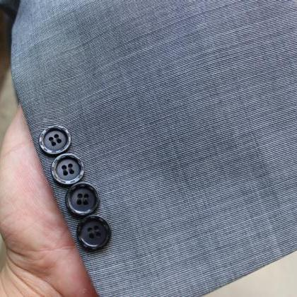 3 pieces Gray 100% Wool Suit for fa..