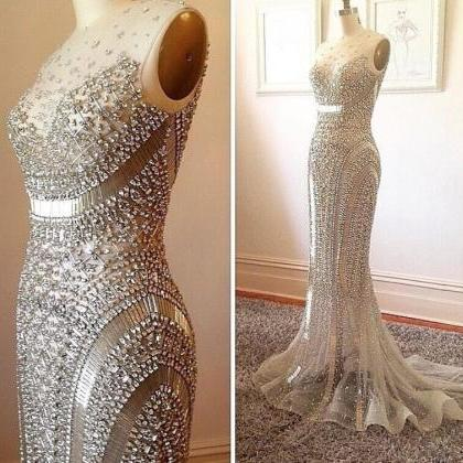 Sexy Luxury Crystals Prom Dress, Pa..