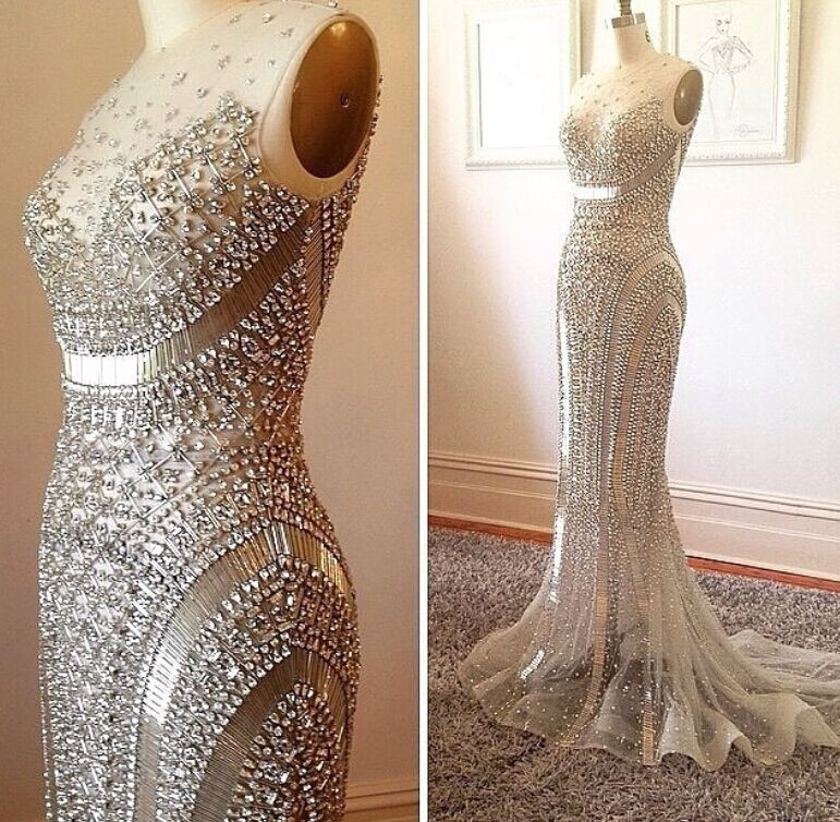 Sexy Luxury Crystals Prom Dress, Party Dress, Evening Dress