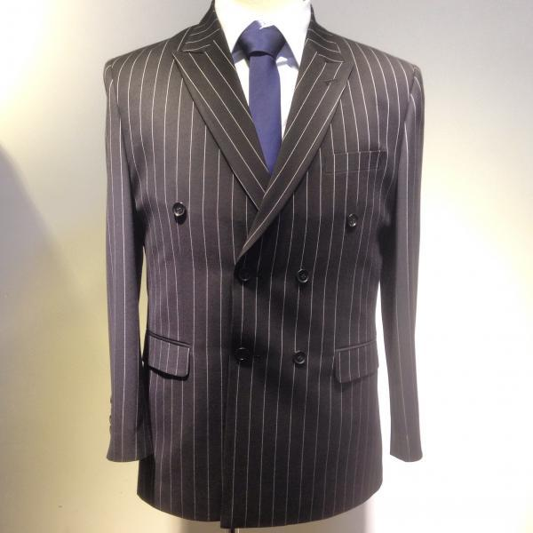 Classical Stripe Wool Men Suit for father or boy friend